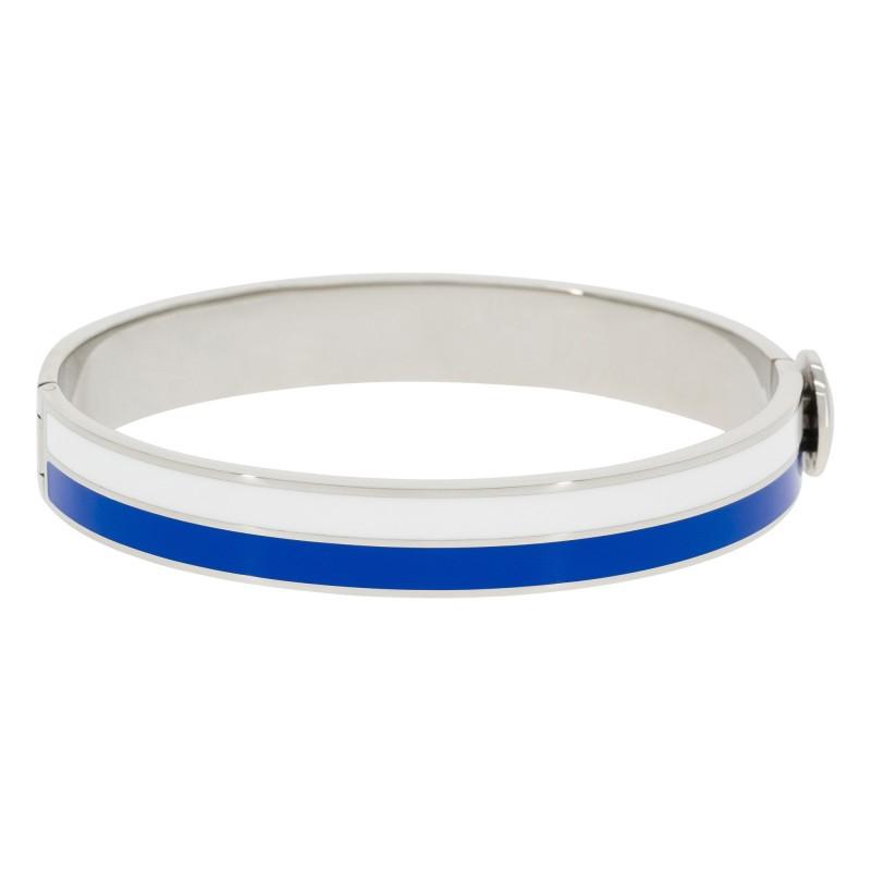 Bracelet Suzanne Email Blanc Et Noir