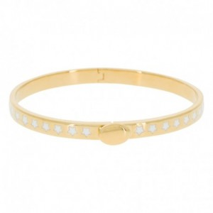 Bracelet Suzanne Email Blanc