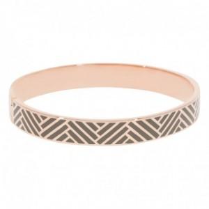 Bracelet Suzanne Email Gris