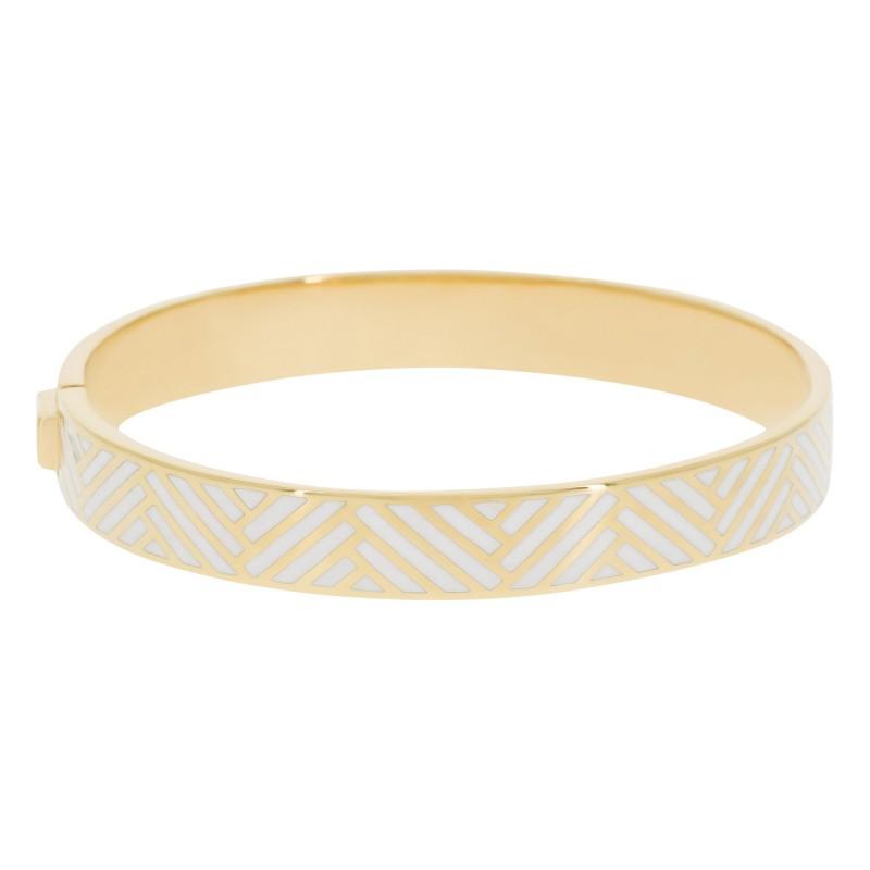 Bracelet Suzanne Email Blanc
